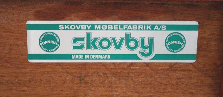 Danish Sideboard on Metal Hairpin Legs by Skovby Møbelfabrik For Sale 5