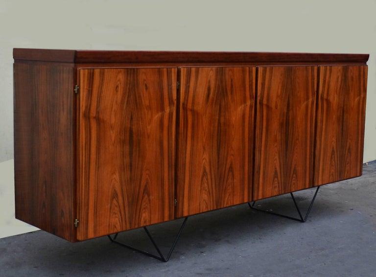 Scandinavian Modern Danish Sideboard on Metal Hairpin Legs by Skovby Møbelfabrik For Sale