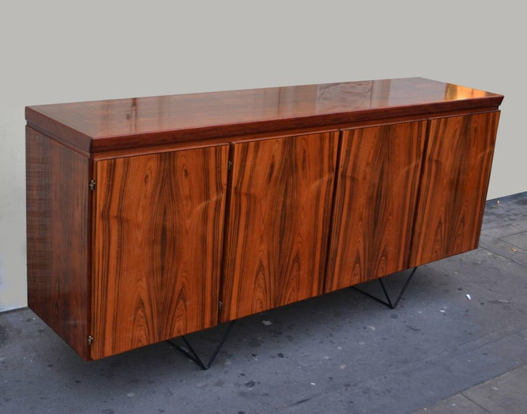 Danish Sideboard on Metal Hairpin Legs by Skovby Møbelfabrik In Excellent Condition For Sale In London, GB