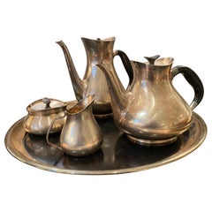 Danish Silver Plated Tea and Coffee Set by Hans Bunde for Cohr