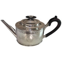 Danish Silver Tea Pot by Bendix Gijsen, Copenhagen, Louis XVI Period, Dated 1799
