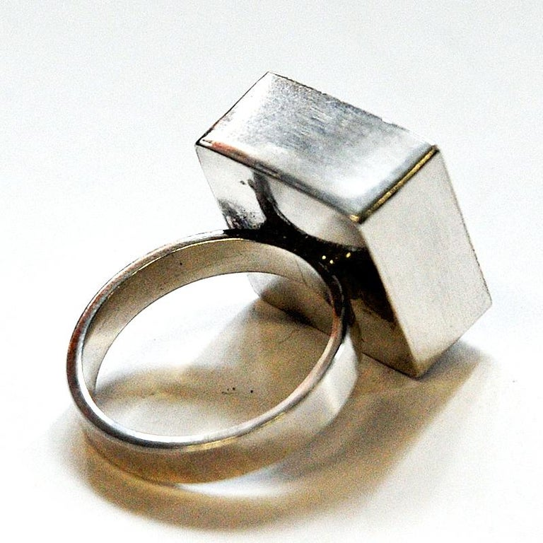 Danish Silverring with Lapis Lazuli Stone by Brdr. Bjerring, 1970s For Sale 1