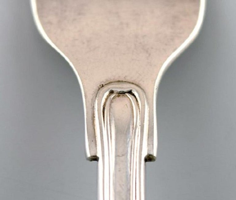 Art Deco Danish Silversmith, Old Danish Fork in Silver, 1920s-1930s, 4 Pieces For Sale