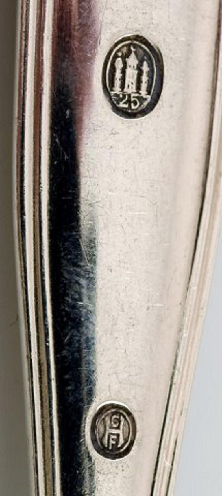 Danish Silversmith, Old Danish Fork in Silver, 1920s-1930s, 4 Pieces In Good Condition For Sale In Copenhagen, Denmark