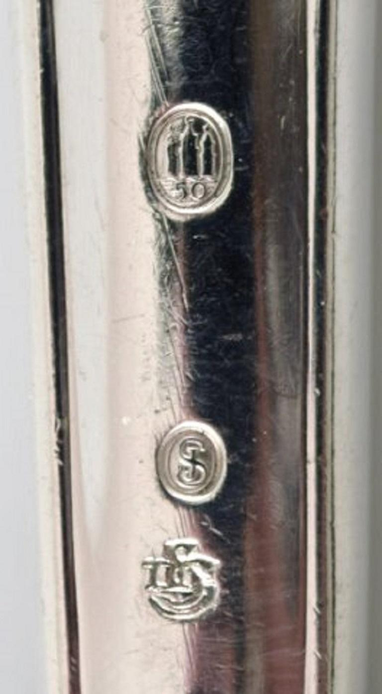 Danish Silversmith, Rosenholm Cake Knife in Silver, 1950 In Good Condition For Sale In Copenhagen, Denmark