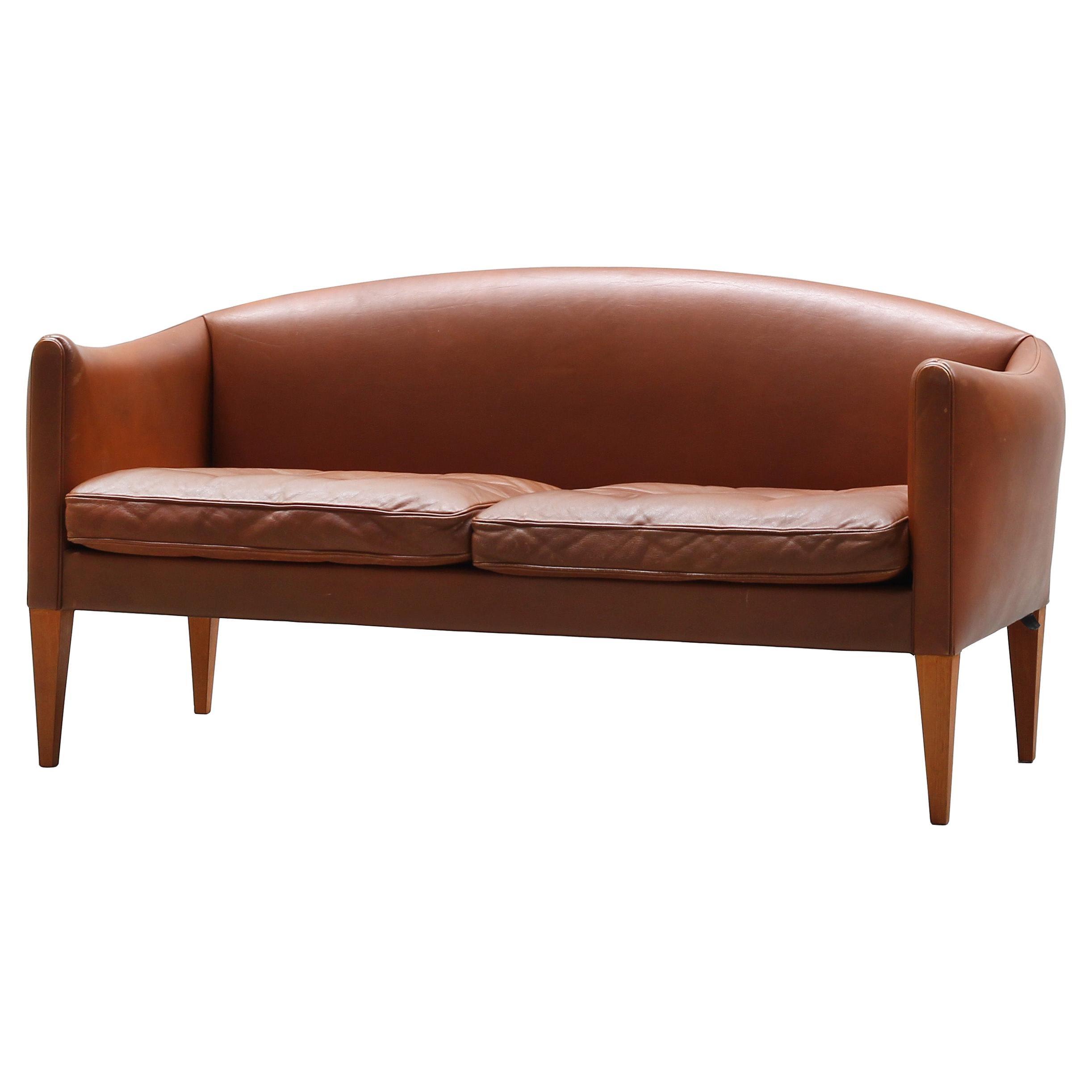 Danish Sofa by Illum Wikkelsø for Holger Christiansen, Denmark, 1960s Leather