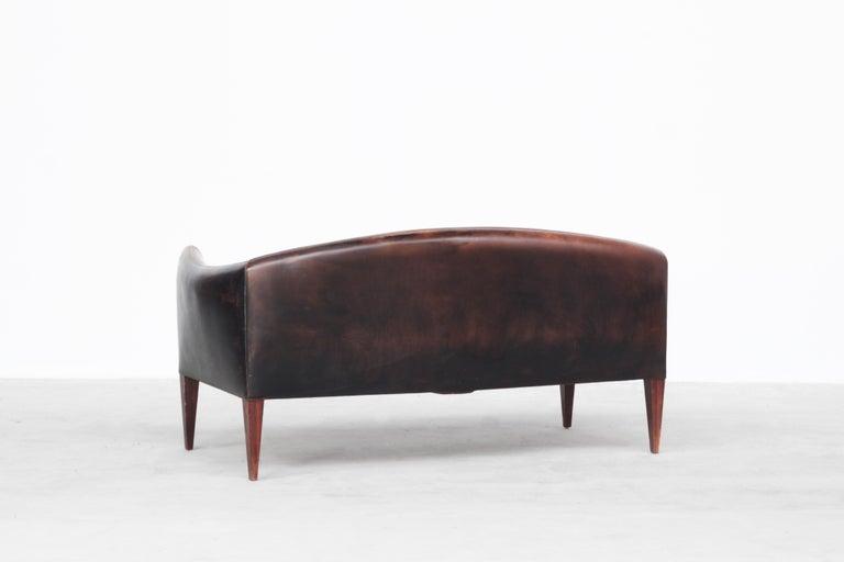 20th Century Danish Sofa by Illum Wikkelsø for Holger Christiansen, Denmark, 1960s Leather For Sale