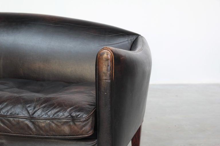 Danish Sofa by Illum Wikkelsø for Holger Christiansen, Denmark, 1960s Leather For Sale 3