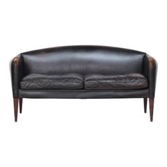 Danish Sofa by Illum Wikkelsø for Holger Christiansen, Denmark, 1960s Leather