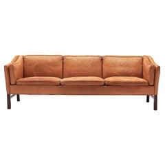 Danish Sofa in Cognac Leather