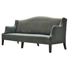 Danish Sofa in Soft Green Upholstery