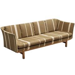 Danish Sofa in Striped Upholstery