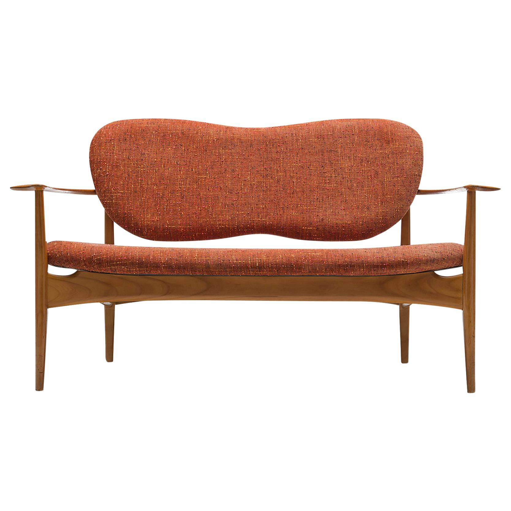 Danish Sofa with Wing-Shaped Back