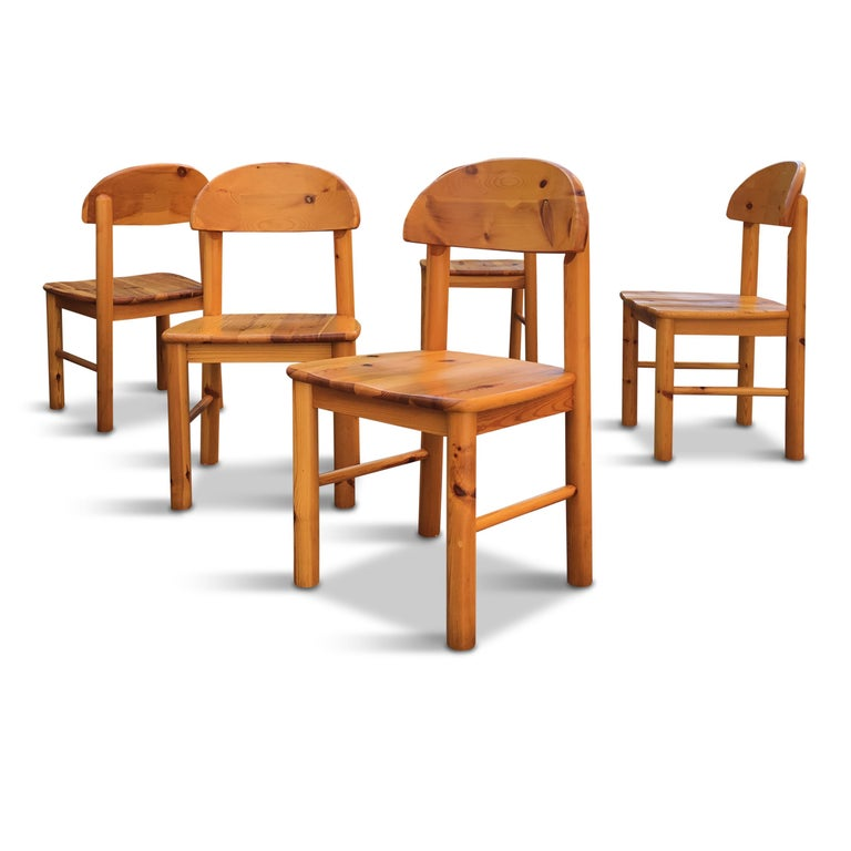 Scandinavian Modern Danish Solid Pine Extension Dining Set by Rainer Daumiller for Hirtshals Sawmil For Sale