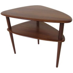 Danish Solid Teak Side / End Table in the Style of Peter Hvidt
