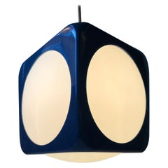 Danish Space Age Dice Pendant Lamp by Hoyrup, 1970s