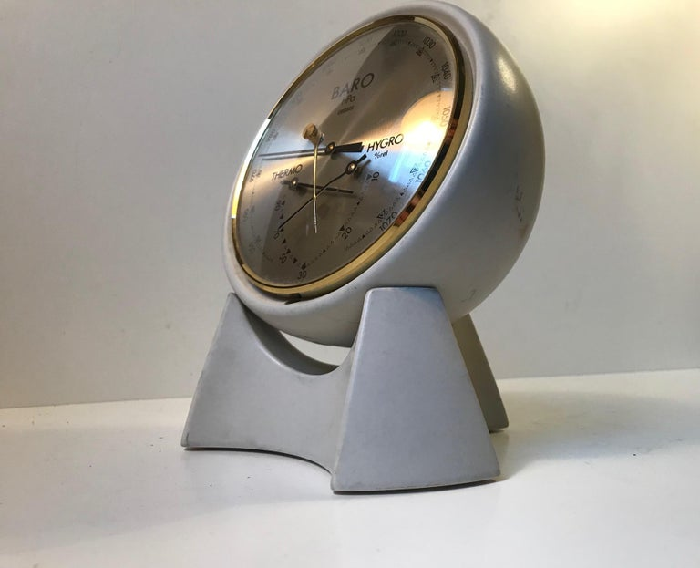 - A swiveling half-globe weather station and stand - Produced by Søholm in the 1970s - Designed and manufactured in Denmark.