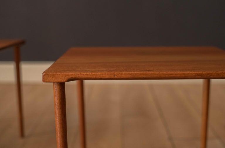 Danish Stacking Teak End Tables by France & Daverkosen For Sale 6
