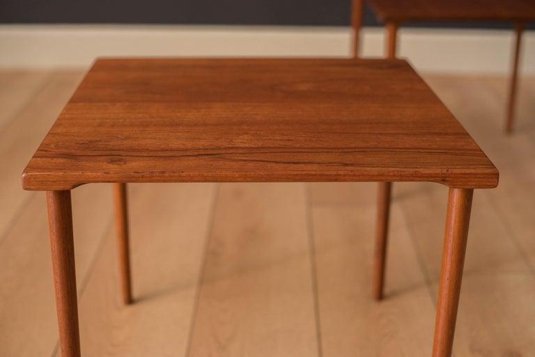 Danish Stacking Teak End Tables by France & Daverkosen For Sale 9