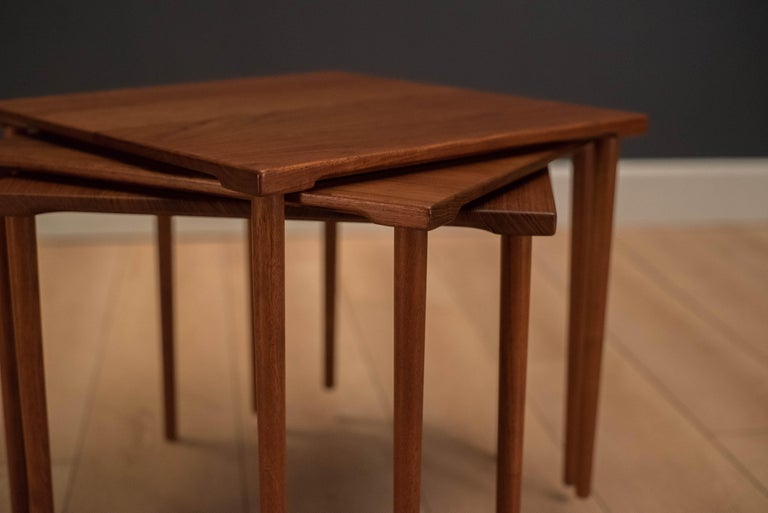 Danish Stacking Teak End Tables by France & Daverkosen In Good Condition For Sale In San Jose, CA