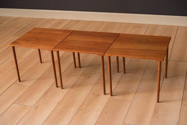 Scandinavian Modern Danish Stacking Teak End Tables by France & Daverkosen For Sale