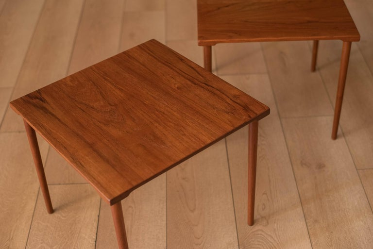 Mid-20th Century Danish Stacking Teak End Tables by France & Daverkosen For Sale