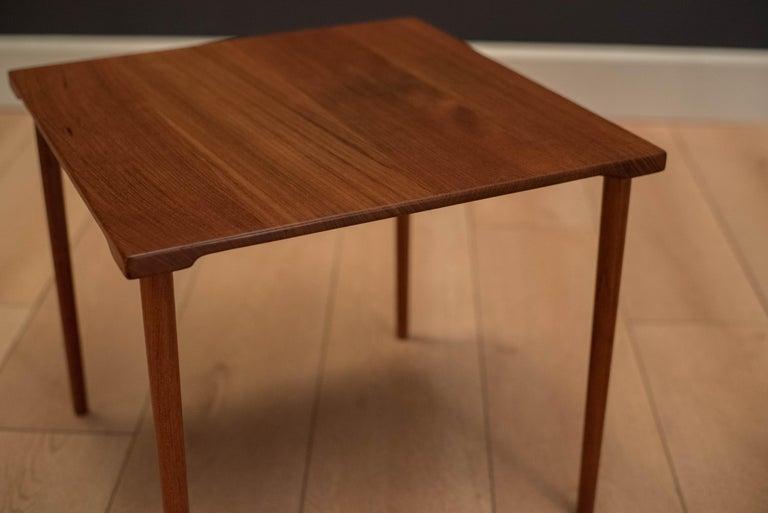 Danish Stacking Teak End Tables by France & Daverkosen For Sale 3