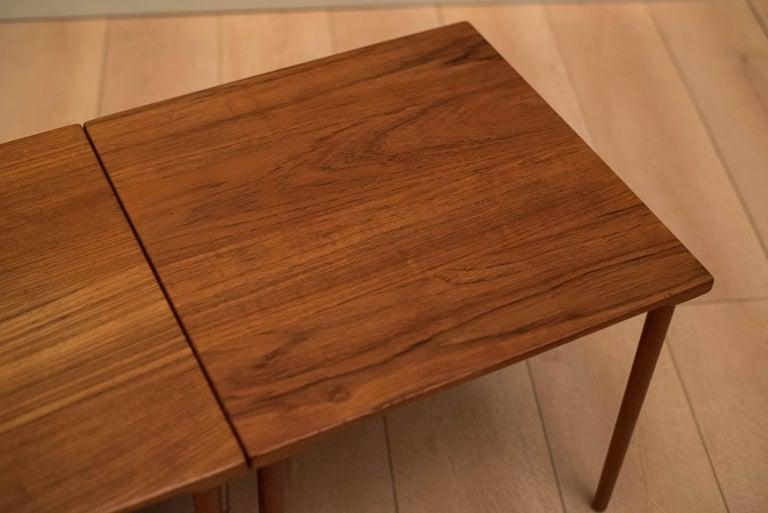 Danish Stacking Teak End Tables by France & Daverkosen For Sale 4