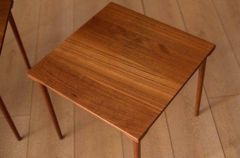 Danish Stacking Teak End Tables by France & Daverkosen For Sale 2