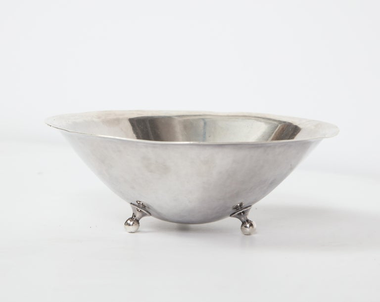 1950s Danish Sterling Silver Footed Dish, circa 1950 For Sale