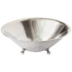 Danish Sterling Silver Footed Dish, circa 1950