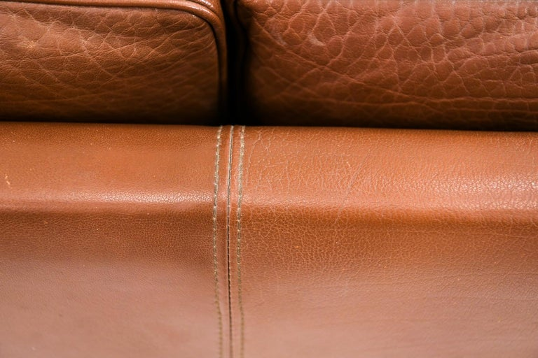 Danish Stouby Leather Three-Seat Sofa For Sale 10