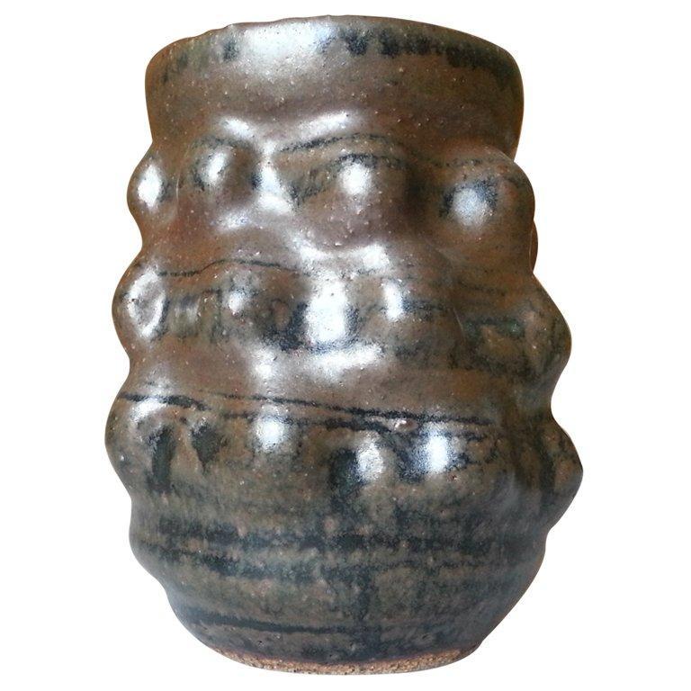 Danish Studio Ceramic Vase, Style of Axel Salto