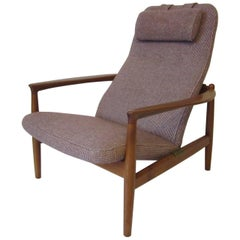 Danish Styled Lounge Chair by Folke Ohlsson for DUX