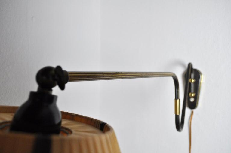 Danish Swing Arm Brass Wall Lamp, 1950s For Sale 6