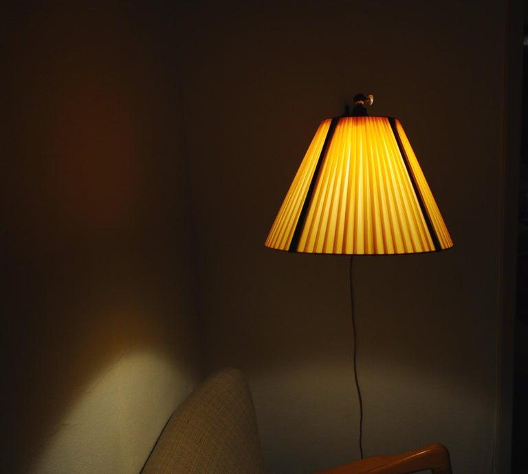 Danish Swing Arm Brass Wall Lamp, 1950s For Sale 9