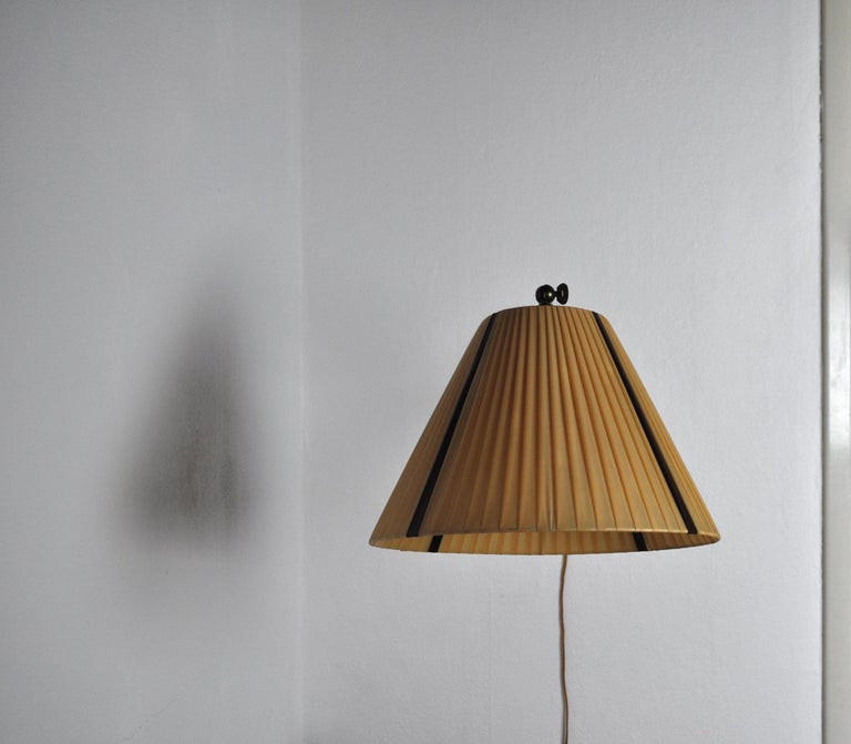 20th Century Danish Swing Arm Brass Wall Lamp, 1950s For Sale