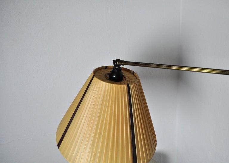 Danish Swing Arm Brass Wall Lamp, 1950s For Sale 2