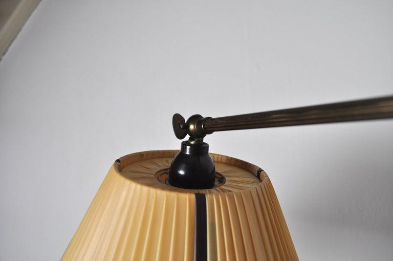 Danish Swing Arm Brass Wall Lamp, 1950s For Sale 3