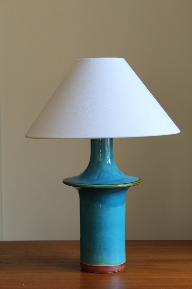 A Danish table lamp. Designed and produced in Denmark, 1960s.