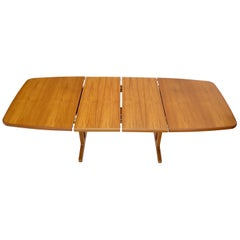 Danish Teak 2 Self Containing Extension Boards Dining Table