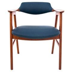 Danish Teak and Leather Armchair, Danish Design