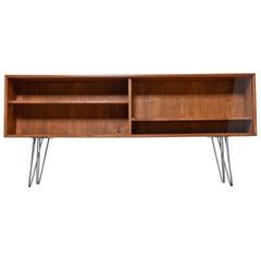 Danish Teak Bookshelf Console Cabinet Credenza by Axel Christensen Odder Mobler