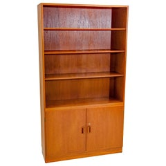 Danish Teak Cabinet Bookcase, Børge Mogensen