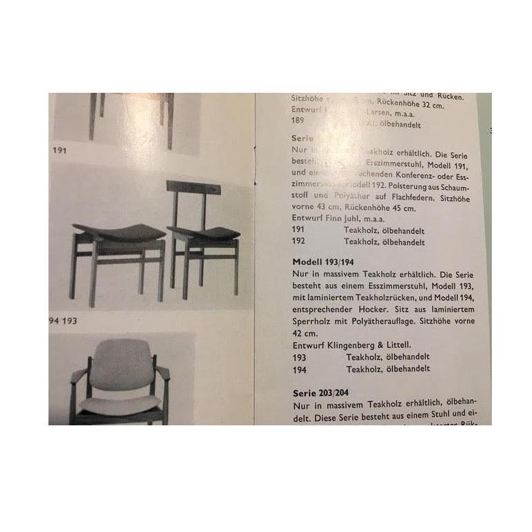 Danish Teak Chair Model #193 by Inger Klingenberg for France & Søn For Sale 1