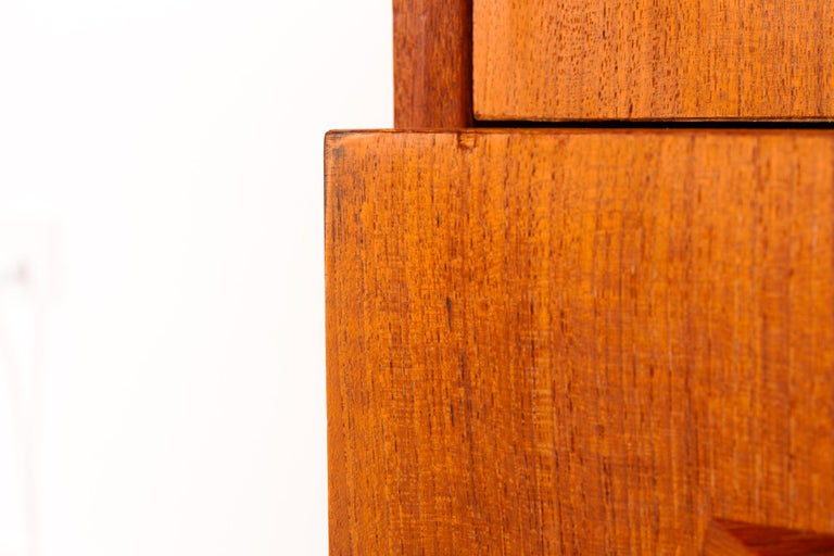Danish Teak Chest of Drawers, 1960s For Sale 10