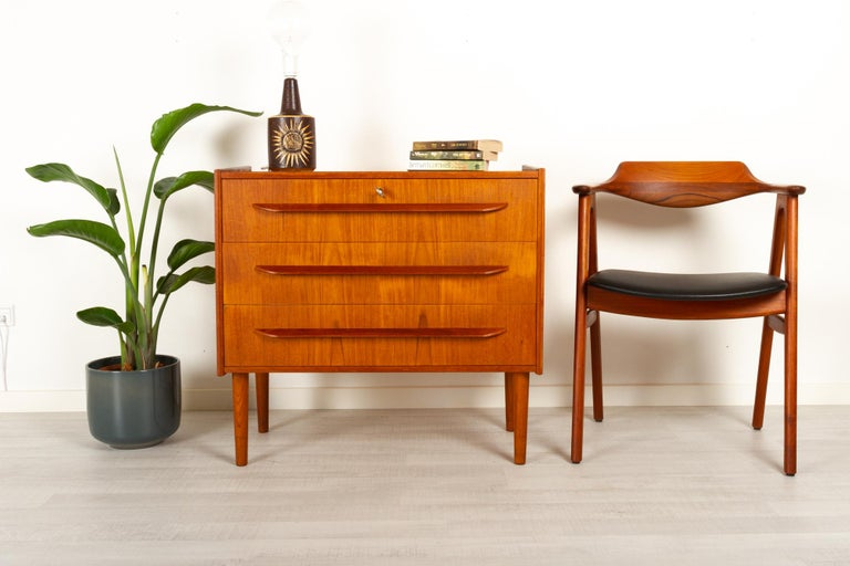 Danish Teak Chest of Drawers, 1960s For Sale 11