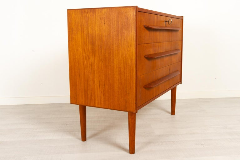 Mid-20th Century Danish Teak Chest of Drawers, 1960s For Sale