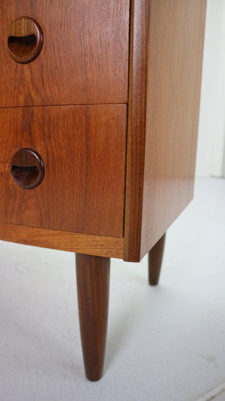 Danish Teak Chest of Drawers by Kai Kristiansen for Feldballes Møbelfabrik, 1960 9