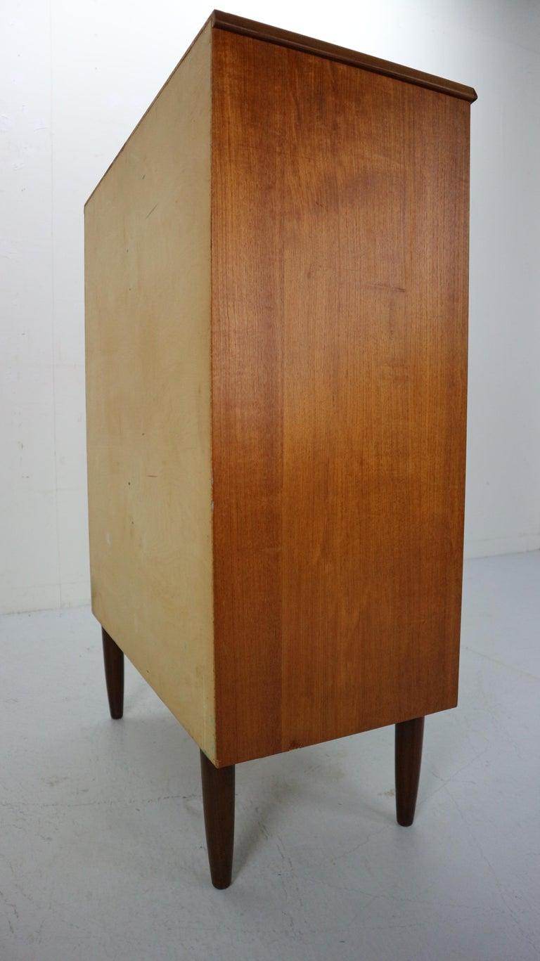 Danish Teak Chest of Drawers by Kai Kristiansen for Feldballes Møbelfabrik, 1960 4